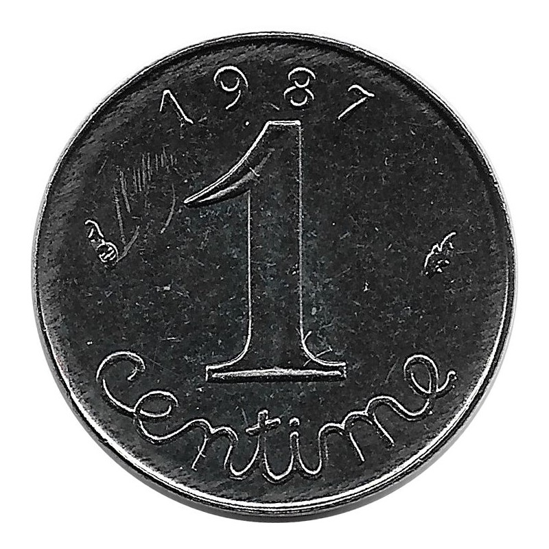 FRANCE 1 CENTIME EPI 1987 SUP
