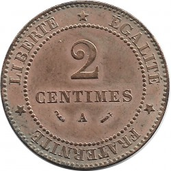 FRANCE 2 CENTIMES CERES 1882 A SUP-