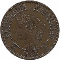 FRANCE 2 CENTIMES CERES 1885 A NORMAL TTB