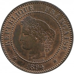 FRANCE 2 CENTIMES CERES 1894 A SUP+