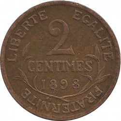 FRANCE 2 CENTIMES DUPUIS 1898 TTB