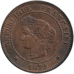 FRANCE 5 CENTIMES CERES 1872 A SUP