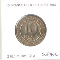 FRANCE 10 FRANCS CAPETIEN 1987 SUP/NC