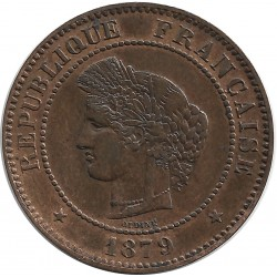 FRANCE 5 CENTIMES CERES 1879 A SUP-
