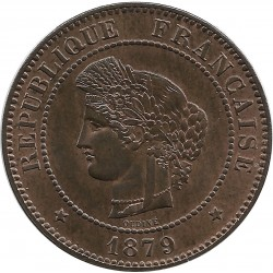 FRANCE 5 CENTIMES CERES 1879 A SUP+
