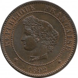 FRANCE 5 CENTIMES CERES 1892 A SUP