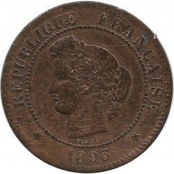 FRANCE 5 CENTIMES CERES 1893 A TB