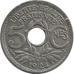 FRANCE 5 CENTIMES LINDAUER 1924 POISSY TTB