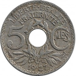 FRANCE 5 CENTIMES LINDAUER 1927 TB+