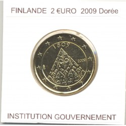 FINLANDE 2009 2 EURO Commemorative INSTITUTION GOUVERNEMENT DOREE SUP