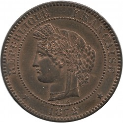 FRANCE 10 CENTIMES CERES 1872 A SUP/NC