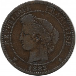 FRANCE 10 CENTIMES CERES 1883 A TB