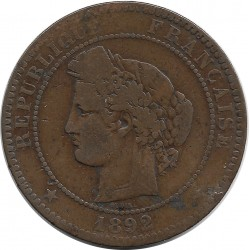 FRANCE 10 CENTIMES CERES 1892 A TB