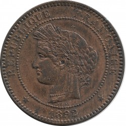 FRANCE 10 CENTIMES CERES 1892 A SUP