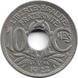 FRANCE 10 CENTIMES LINDAUER 1922 Poissy TTB