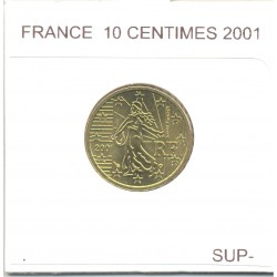 FRANCE 2001 10 CENTIMES SUP-