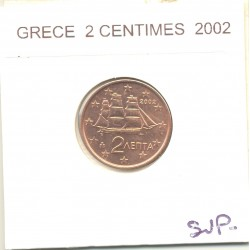 GRECE 2002 2 CENTIMES  SUP-