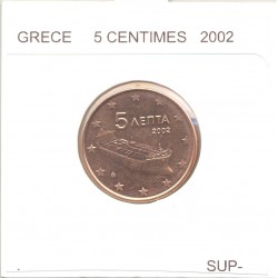 GRECE 2002 5 CENTIMES SUP
