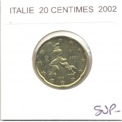 ITALIE 2002 20 CENTIMES SUP-