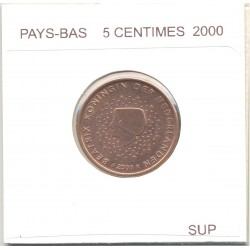 HOLLANDE (PAYS-BAS) 2000 5 CENTIMES SUP
