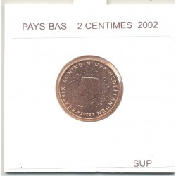 HOLLANDE (PAYS-BAS) 2002 2 CENTIMES SUP