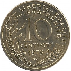 FRANCE 10 CENTIMES LAGRIFFOUL 1979 FDC