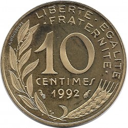FRANCE 10 CENTIMES LAGRIFFOUL 1992 BE