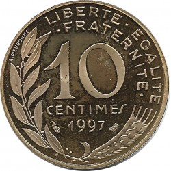 FRANCE 10 CENTIMES LAGRIFFOUL 1997 BE
