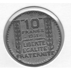 FRANCE 10 FRANCS TURIN 1931  TB+ FAUSSE