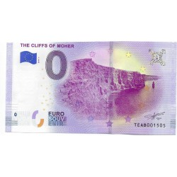 IRLANDE 2019-1 THE CLIFFS OF MOHER BILLET SOUVENIR 0 EURO TOURISTIQUE NEUF
