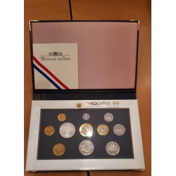 FRANCE 1999 SERIE BE COFFRET 11 Monnaies 5 Centimes COL 3 PLIS