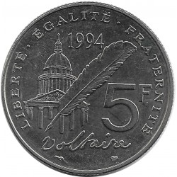 FRANCE 5 FRANCS VOLTAIRE 1994 SUP