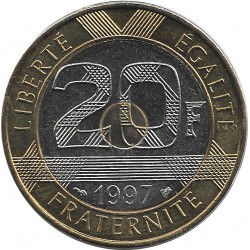 FRANCE 20 FRANCS MONT ST MICHEL 1997 BU
