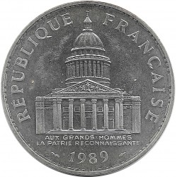 FRANCE 100 FRANCS PANTHEON 1989 SUP/NC