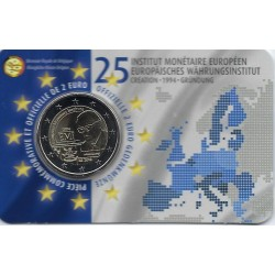 BELGIQUE 2019 2 EURO COMMEMORATIVE E.M.I COINCARD VERSION FRANCAISE