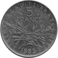 FRANCE 5 FRANCS ROTY 1985 SUP-