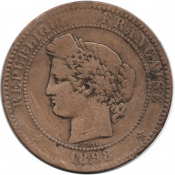FRANCE 10 CENTIMES CERES 1898 A TB+