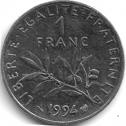 FRANCE 1 FRANC ROTY 1994 abeille SUP