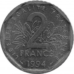 FRANCE 2 FRANCS ROTY 1994 DAUPHIN TTB