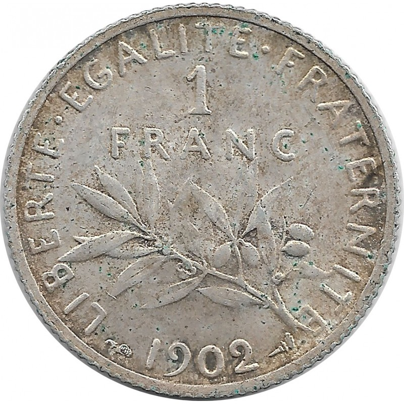 FRANCE 1 FRANC ROTY 1902 SUP-