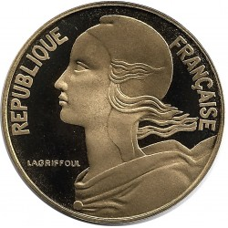 FRANCE 20 CENTIMES LAGRIFFOUL 1992 BE