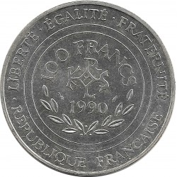 FRANCE 100 FRANCS 1990 CHARLEMAGNE SUP