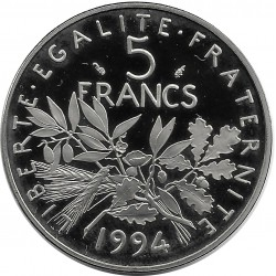 FRANCE 5 FRANCS ROTY 1994 BE