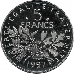 FRANCE 5 FRANCS ROTY 1997 BE