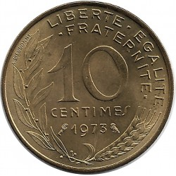 FRANCE 10 CENTIMES LAGRIFFOUL 1973 SUP/NC