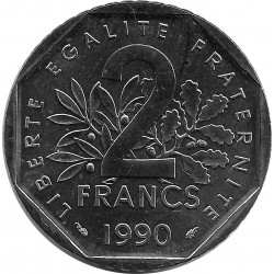 FRANCE 2 FRANCS ROTY 1990 SUP/NC