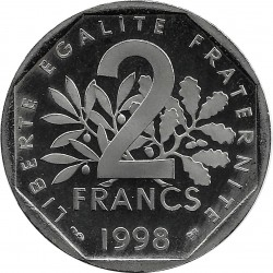 FRANCE 2 FRANCS ROTY 1998 BE