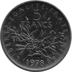 FRANCE 5 FRANCS ROTY 1978 SUP+