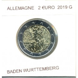 ALLEMAGNE 2019 G 2 EURO COMMEMORATIVE BADEN WURTTEMBERG SUP
