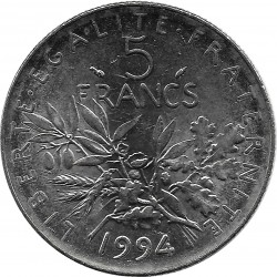 FRANCE 5 FRANCS ROTY 1994 Dauphin SUP